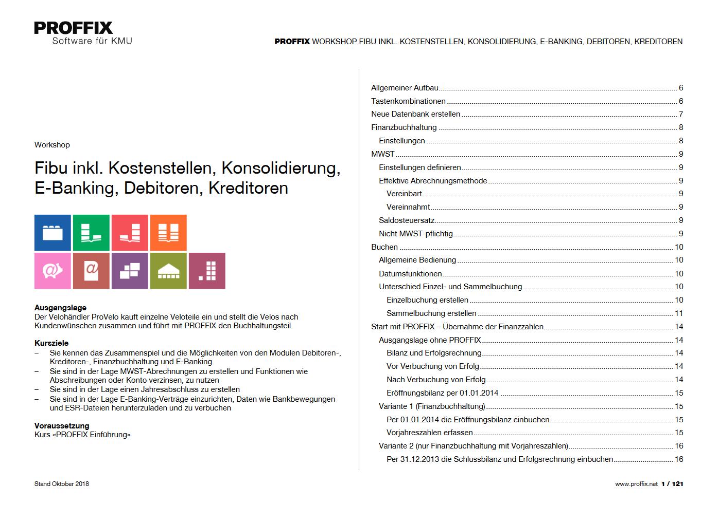 Workshop Fibu Inkl Kostenstellen Konsolidierung E Banking